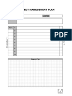 Project Management Plan (Template)