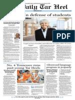 The Daily Tar Heel for November 12, 2013