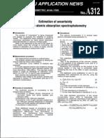 Estimation Uncertainity in Atomic Absorption