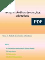 Tema 5.- Análisis de circuitos aritméticos