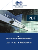 2011-2012 Program - LGA Education and Training Service