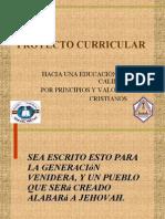 Proyecto Curricular Educación por Principios Cristianos