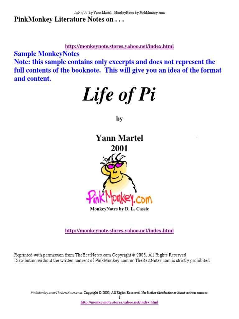 Life Of Pi Pdf Religion And Belief Philosophical Science