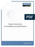 Design Conventions for Catalogues and Specifications
