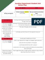 student unit action plan  1