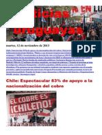 Noticias Uruguayas Martes 12 de Noviembre Del 2013