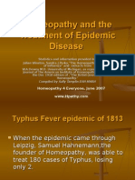 Homeopathy in  Epidemics