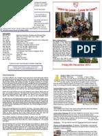 Newsletter Friday 8th Nov