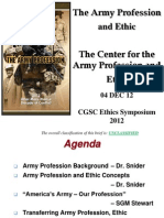 Snider-Army Profession and e