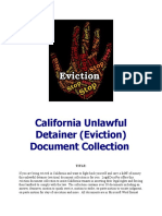 California unlawful detainer (eviction) document collection for sale