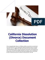 California Dissolution (Divorce) Document Collection for sale