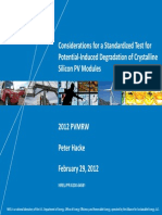 NREL Considerations for a Standardized Test for PID of Cristalline Silicon PV Modules