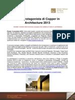 Copper in Architecture 2013 - i Vincitori