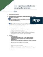 Complicações e particularidades na anestesia em grandes animais- Anestesio Gabi