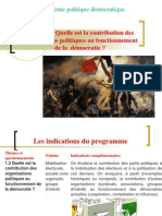 Thème 3 - Quelle est la contribution des organisations politiques au fonctionnement de la démocratie