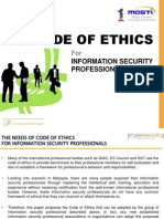 Security Professional Code of Ethics