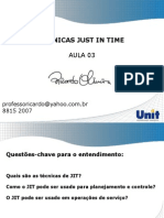 Aula 03 técnicas just in time