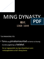 Ming Dynasty in Filipino