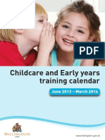 Childcare and Early Years Training Calendar
