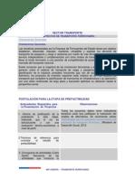Requisitos Formulacion de Proyectos Transporte Ferroviario