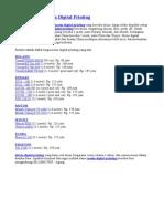 Daftar Harga Mesin Digital Printing