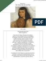 Biografía de Sor Juana Ines de la Cruz