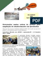 Governador assina ordem de serviço para ampliação do abastecimento em Queimadas