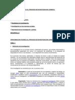 Aproximacion Teorica Al Proceso de Investigacion Juridica