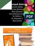 Novel Ronggeng DUkuh Paruk