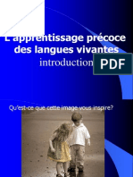 apprentissage precoce problematique.pps