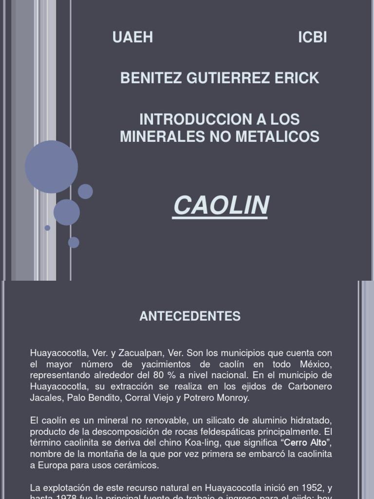 Explotacion de Caolin