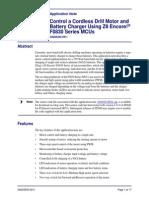 Control a Cordless Drill Motor  using zilog encore F0830.pdf