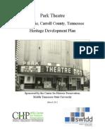 Park Theatre, McKenzie, Carroll County, Tennessee, Heritage Development Plan