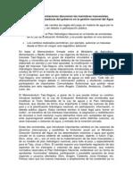 Nota de Prensa ONGs Contra Memorandum Tajo-Segura