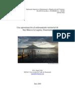 Un acercamiento al Ordenamiento Territorial de San Marcos la Laguna por Engel Tally 2009