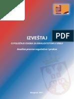 Izvestaj o Polozaju Osoba Sa Invaliditetom u Srbiji