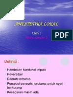 Anestetika Lokal