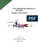 Tubo Vortex de Contato para Separação de Dióxido de Carbono