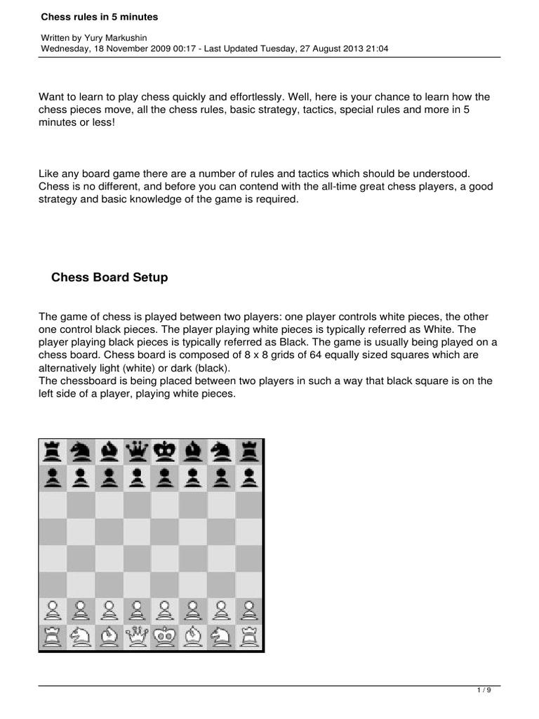 Basic Chess Rules - Markushin.pdf | Chess | Abstract ...