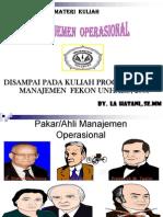 Power Point Manajemen Operasional