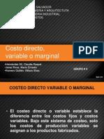 Costo Directo - Variable o Marginal
