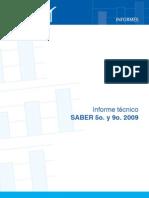 Informe Tecnico Saber 5 y 9 2009