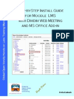 Step-by-step Install Guide for Moodle with Dimdim Web Meeting and MS Office Add-in v1.1