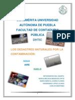 La Contaminacion y Los Desastres Naturales