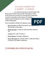 CRONOLOGÍA DEL BARRIO
