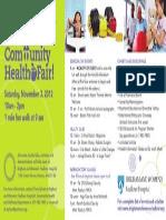 Community Health Fair Ad