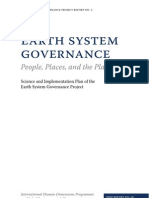 Earth System Governance Science Plan