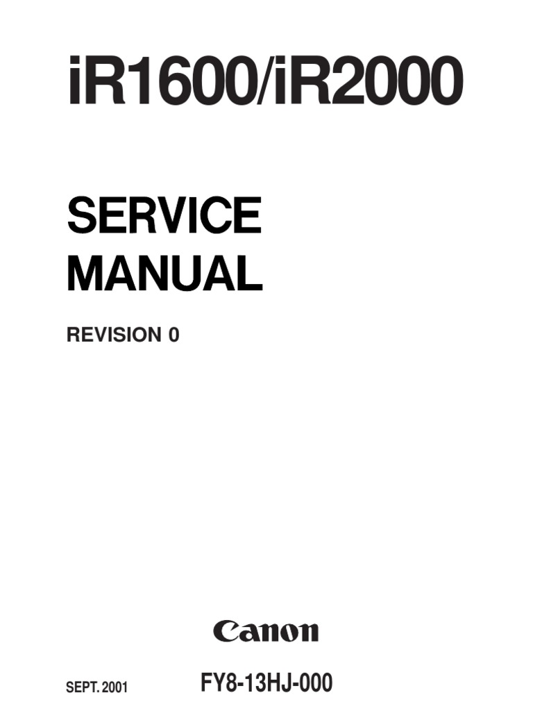 ir1600 ir2000 photocopier printed circuit board rh scribd com canon ir 1600 manual canon ir 1600 service manual free download