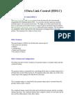 High Level Data Link Control (HDLC)