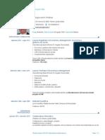CV Europeo Antogiovanni Andrea Laurea Specialistica Economia e Management